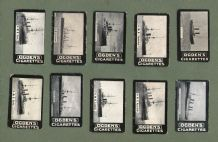 10 different OLD circa 1902 Tobacco cigarette cards military battle ships #109 (1)